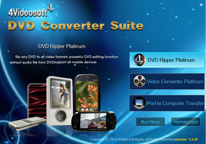 4Videosoft DVD Converter Suite Screenshot 2