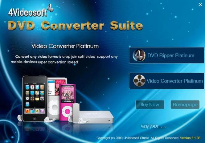 4Videosoft DVD Converter Suite Screenshot 4