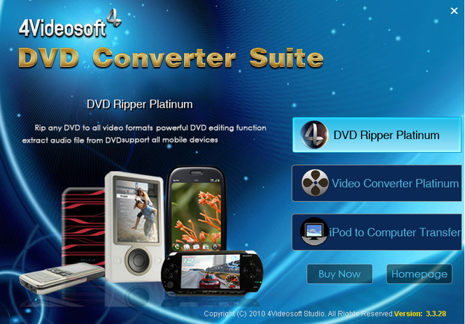 4Videosoft DVD Converter Suite Screenshot 1