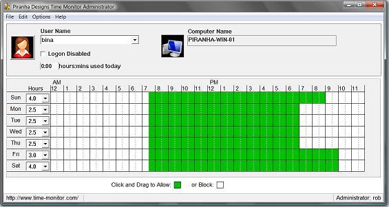Time Monitor Screenshot