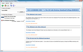 The Clickbank Code News Reader Screenshot 1