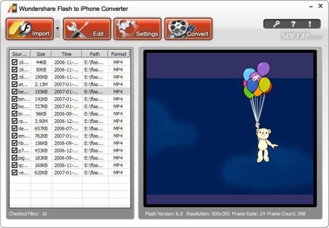 Wondershare Flash to iPhone Converter Screenshot 1