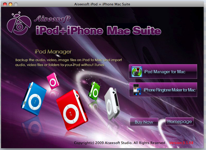 Aiseesoft iPod + iPhone Mac Suite Screenshot