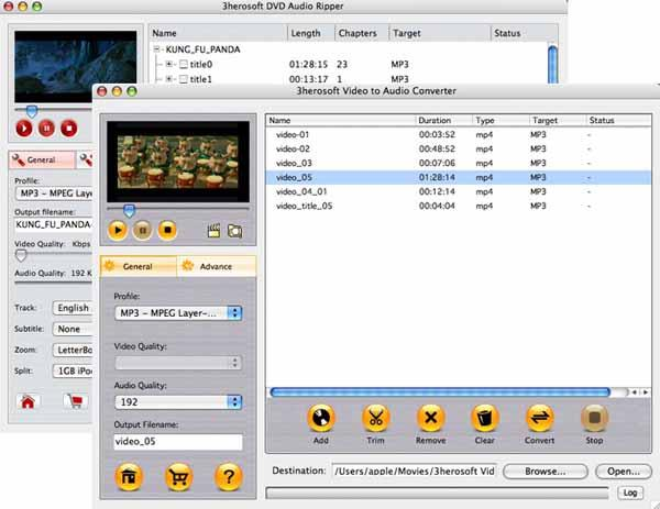 3herosoft DVD to Audio Suite for Mac Screenshot