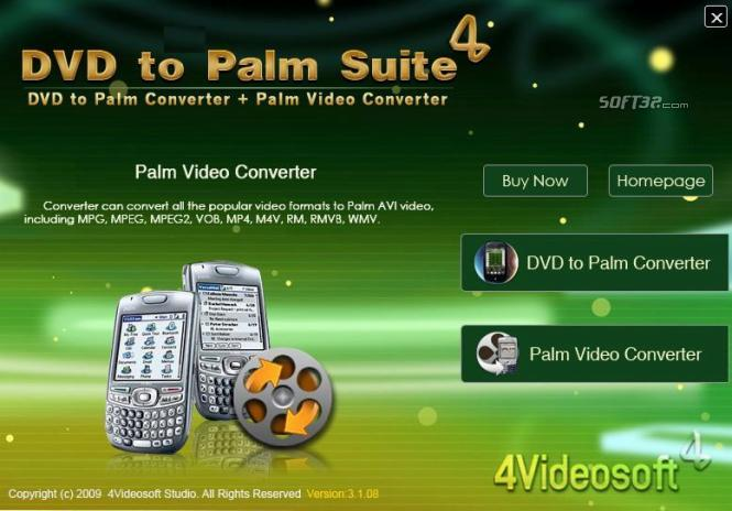 4Videosoft DVD to Palm Suite Screenshot 3