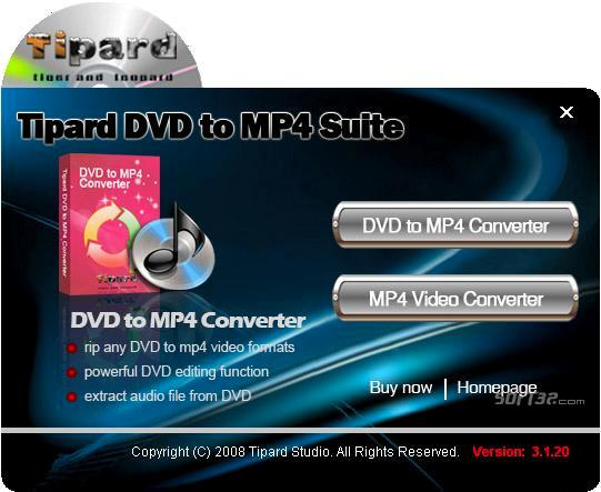 Tipard DVD to MP4 Suite Screenshot 3