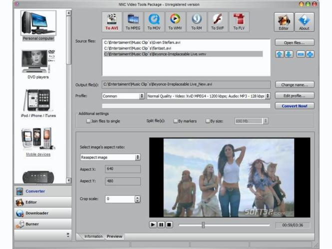 NNC Video Tools Package Screenshot 3