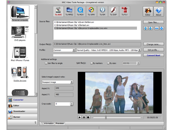 NNC Video Tools Package Screenshot