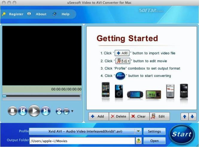 uSeesoft Video to AVI Converter for Mac Screenshot 3