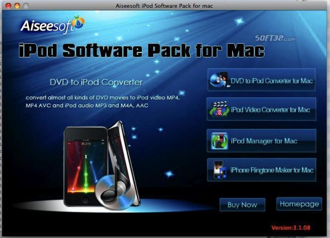 Aiseesoft iPod Software Pack for Mac Screenshot 3