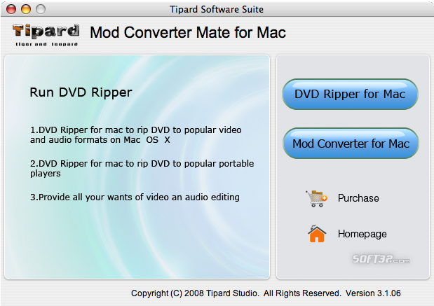 Tipard Mod Converter Mate for Mac Screenshot 2