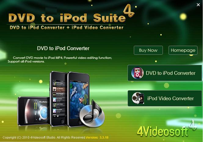4Videosoft DVD to iPod Suite Screenshot 1