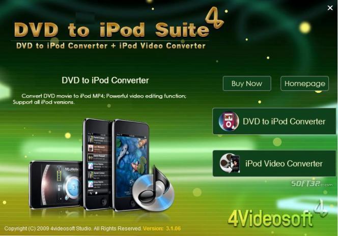 4Videosoft DVD to iPod Suite Screenshot 2