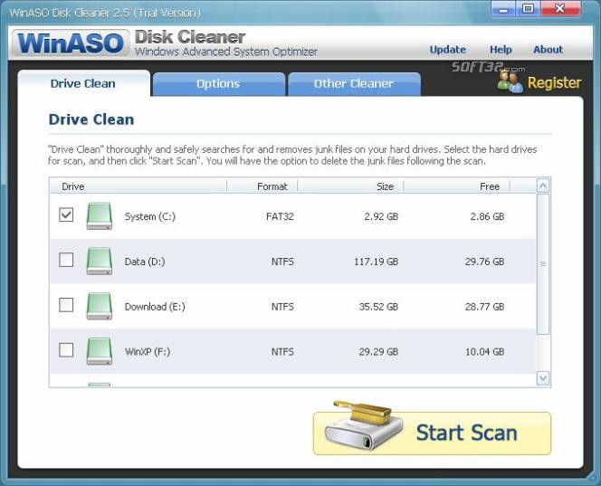 WinASO Disk Cleaner Screenshot 2