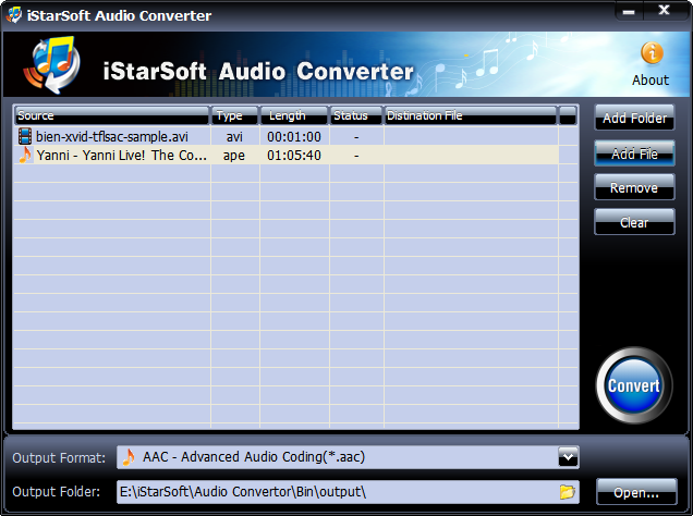 iStarSoft Audio Converter Screenshot