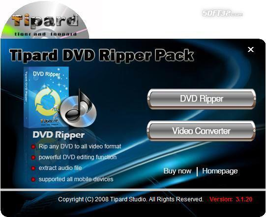 Tipard DVD Ripper Pack Screenshot 3