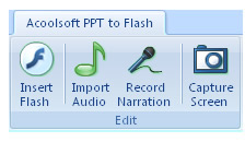 Acoolsoft PPT to Flash Screenshot 1