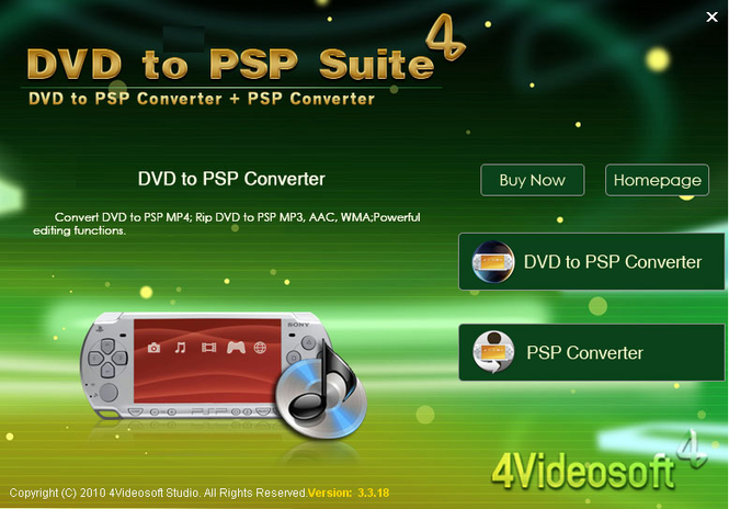 4Videosoft DVD to PSP Suite Screenshot