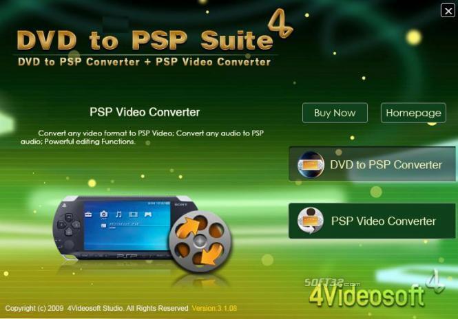 4Videosoft DVD to PSP Suite Screenshot 3