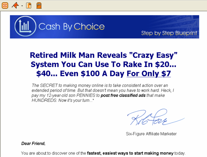 Make Money Online with Cash by Choice Screenshot 1