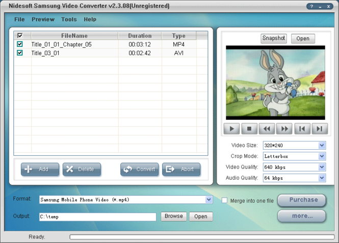 Nidesoft Samsung Video Converter Screenshot