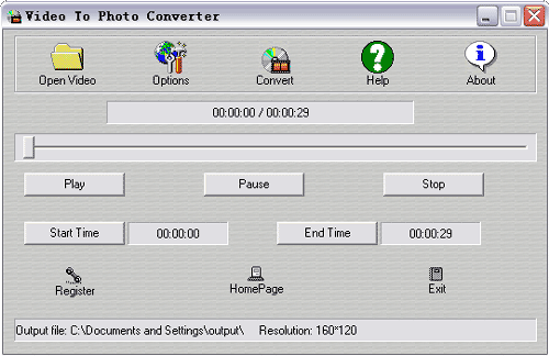 Video To Photo Converter Screenshot