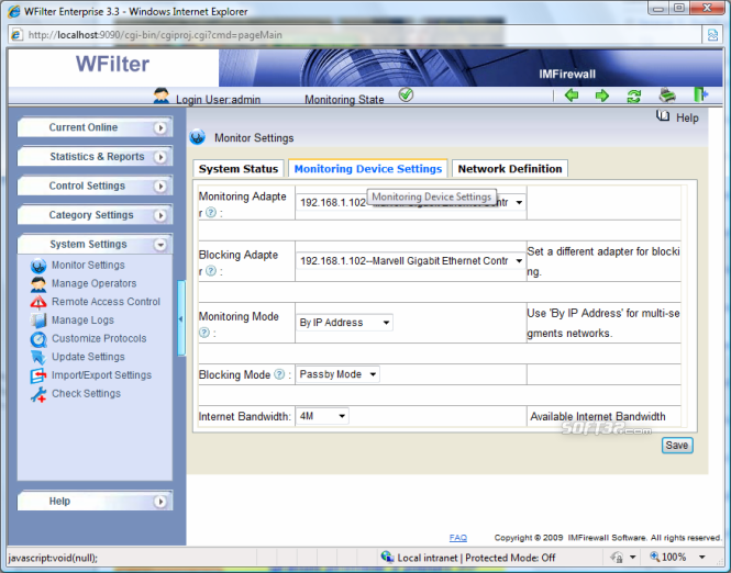 WFilter Enterprise Screenshot 5