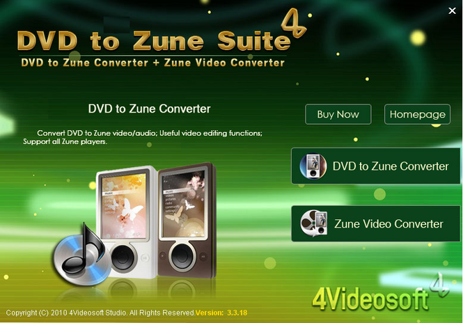 4Videosoft DVD to Zune Suite Screenshot
