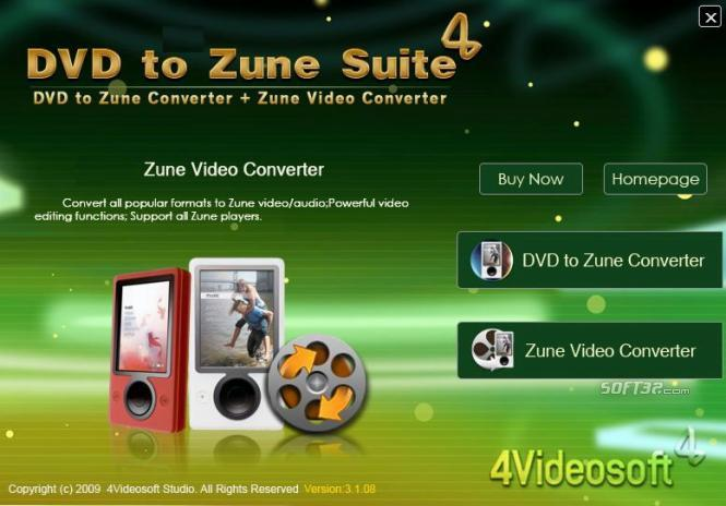4Videosoft DVD to Zune Suite Screenshot 2