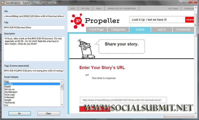 Social Submit Screenshot