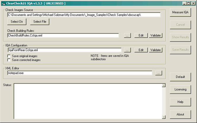 ClearCheck21 IQA Engine Screenshot