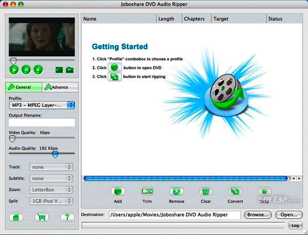 Joboshare DVD Audio Ripper for Mac Screenshot 2