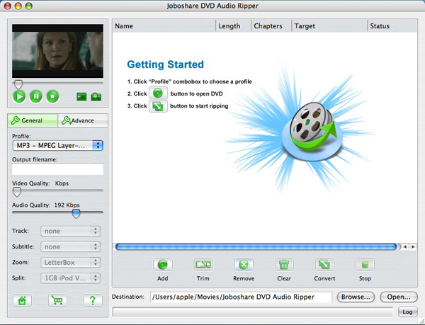 Joboshare DVD Audio Ripper for Mac Screenshot 1
