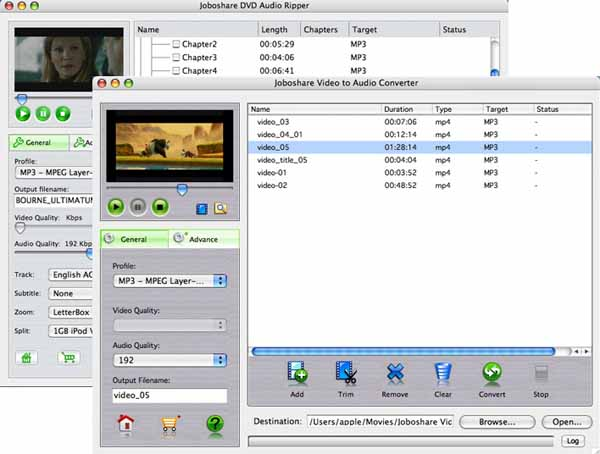 Joboshare DVD Audio Ripper Bundle for Mac Screenshot 1