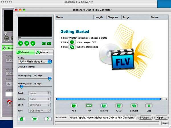 Joboshare DVD to FLV Bundle for Mac Screenshot 2