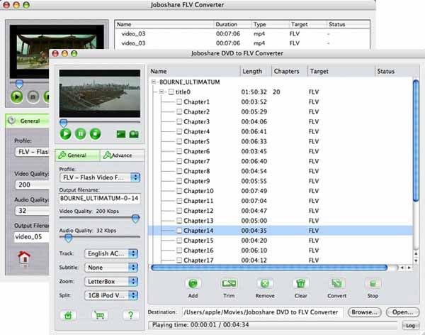 Joboshare DVD to FLV Bundle for Mac Screenshot