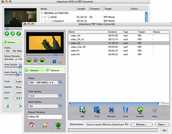 Joboshare DVD to PSP Bundle for Mac Screenshot
