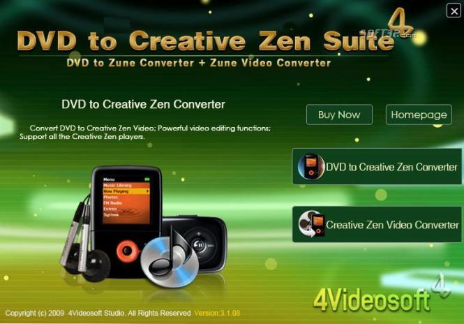 4Videosoft DVD to Creative Zen Suite Screenshot 2