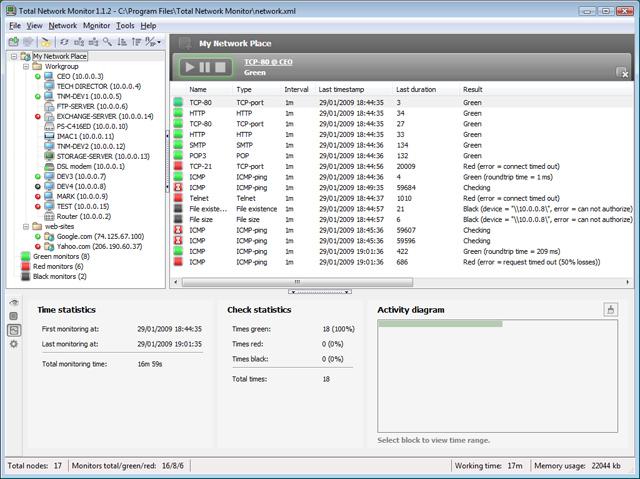 Remote Network Watcher Screenshot 1