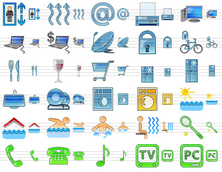 Standard Hotel Icons Screenshot