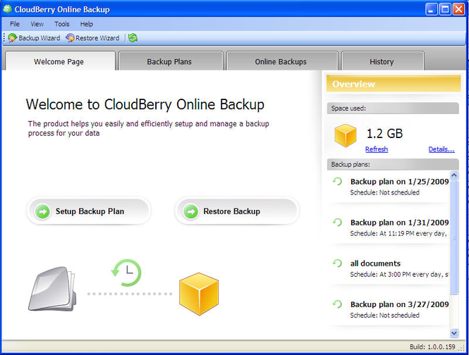 CloudBerry S3 Backup Screenshot 1