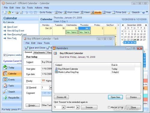 Portable Efficient Calendar Screenshot 3