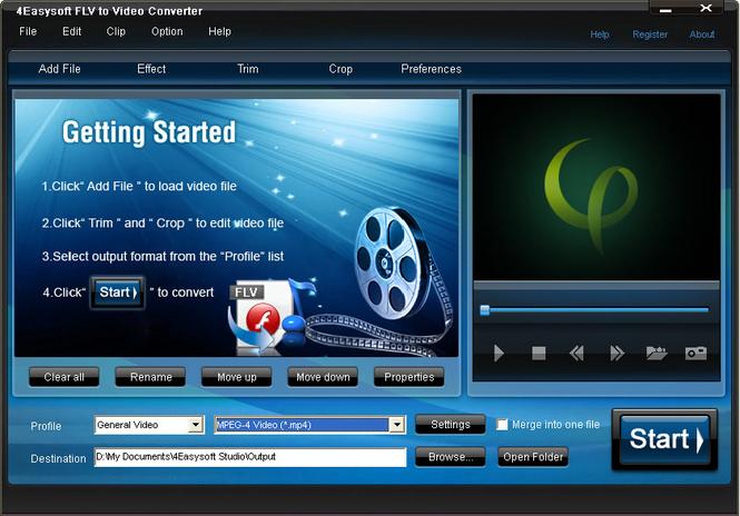 4Easysoft FLV to Video Converter Screenshot