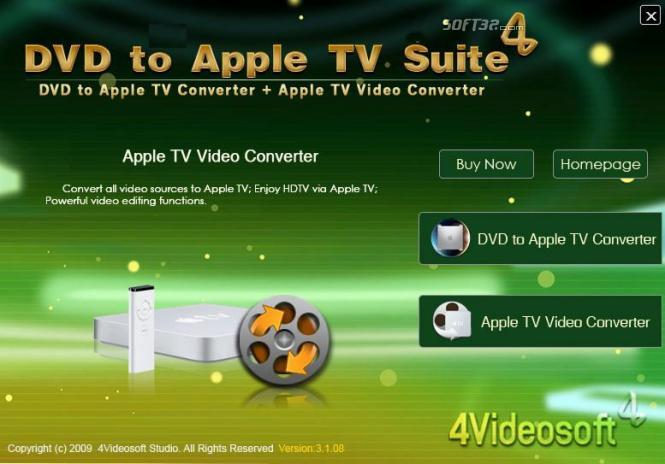 4Videosoft DVD to Apple TV Suite Screenshot 3