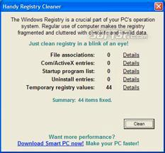 Handy Registry Cleaner Screenshot 1