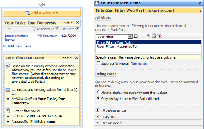 FilterZen - SharePoint Filter Web Parts Screenshot