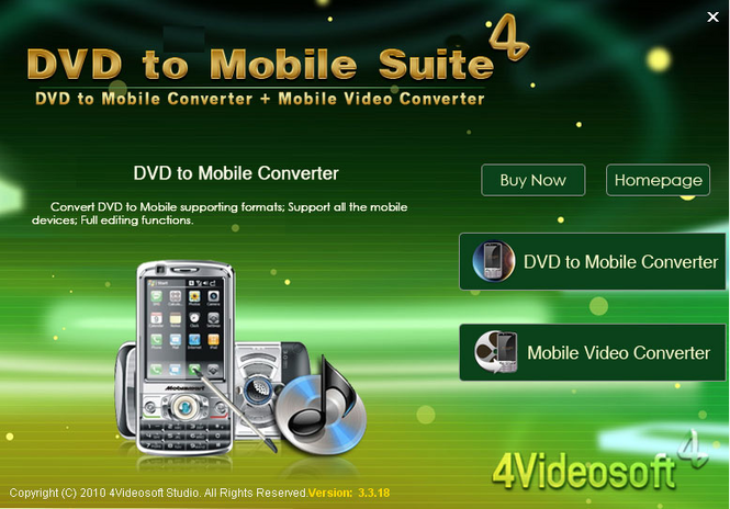 4Videosoft DVD to Mobile Suite Screenshot