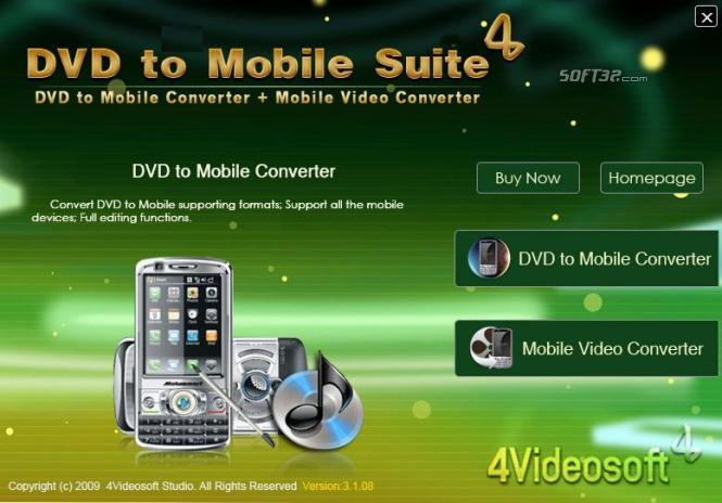 4Videosoft DVD to Mobile Suite Screenshot 2