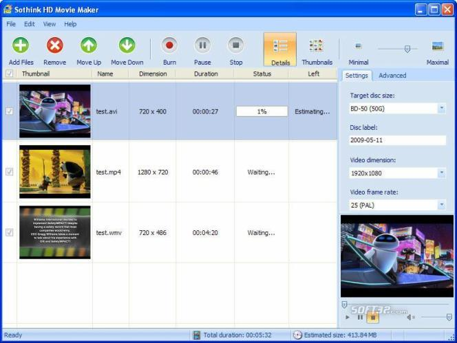 Sothink HD Movie Maker Screenshot 2