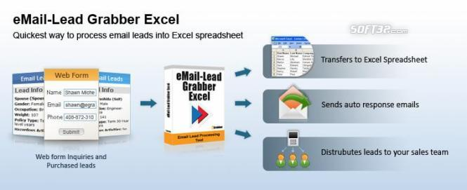 eMail-Lead Grabber Excel Screenshot 2